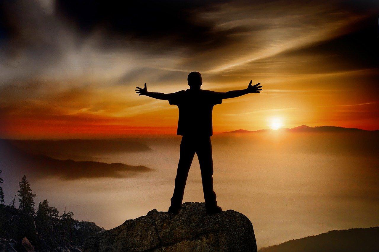 sunset, mountain, stone